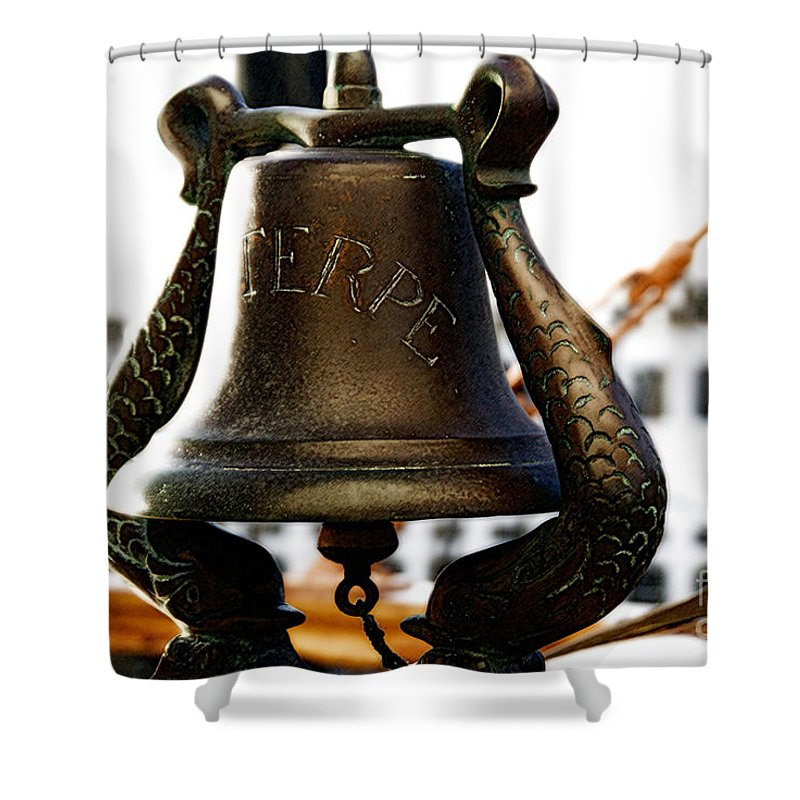 Euterpe Shower Curtain featuring the photograph Euterpe Bell by Linda Shafer