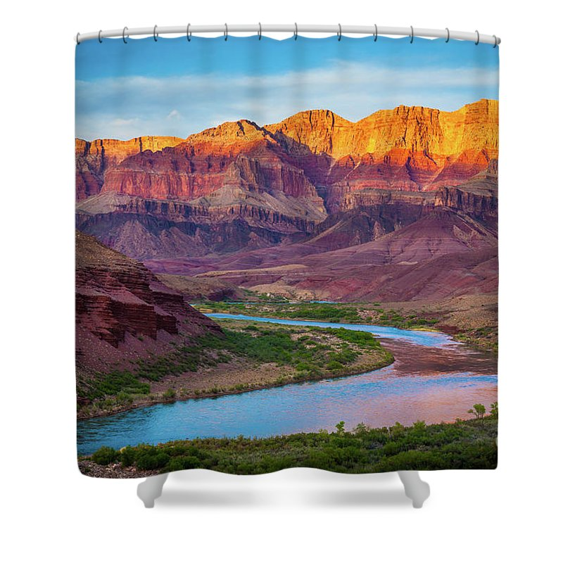America Shower Curtain featuring the photograph Evening At Cardenas by Inge Johnsson