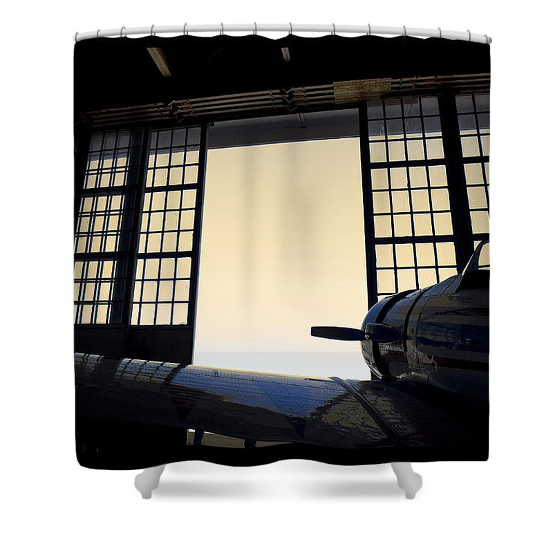Hanger Shower Curtain featuring the photograph Evening Fight - 700070 by TNT Images