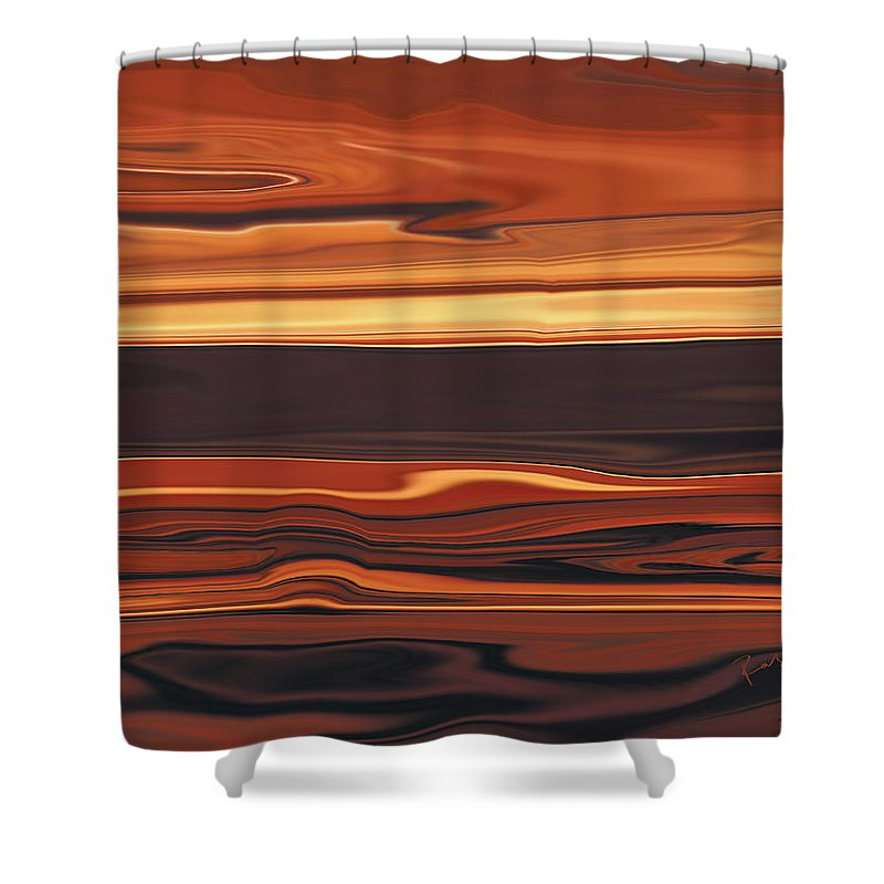 Abstract Shower Curtain featuring the digital art Evening In Ottawa Valley 1 by Rabi Khan
