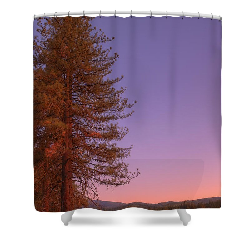 Valley Shower Curtain featuring the photograph Evening In The Valley by Mick Burkey