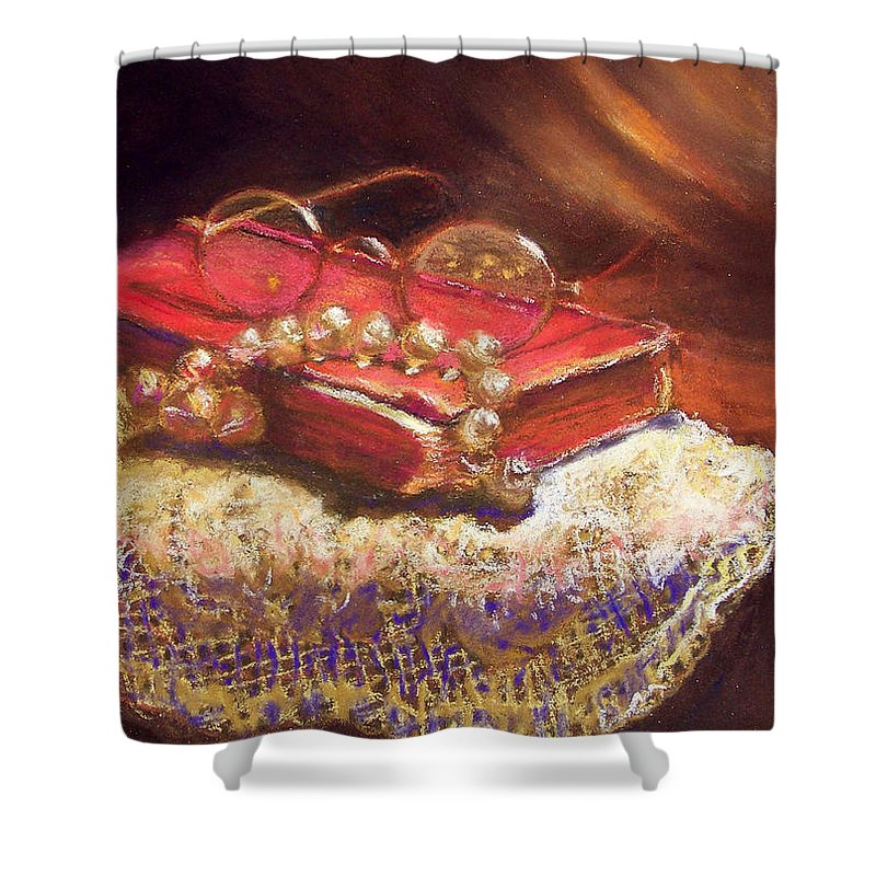 Pastel Shower Curtain featuring the pastel Evening by Laurie Paci