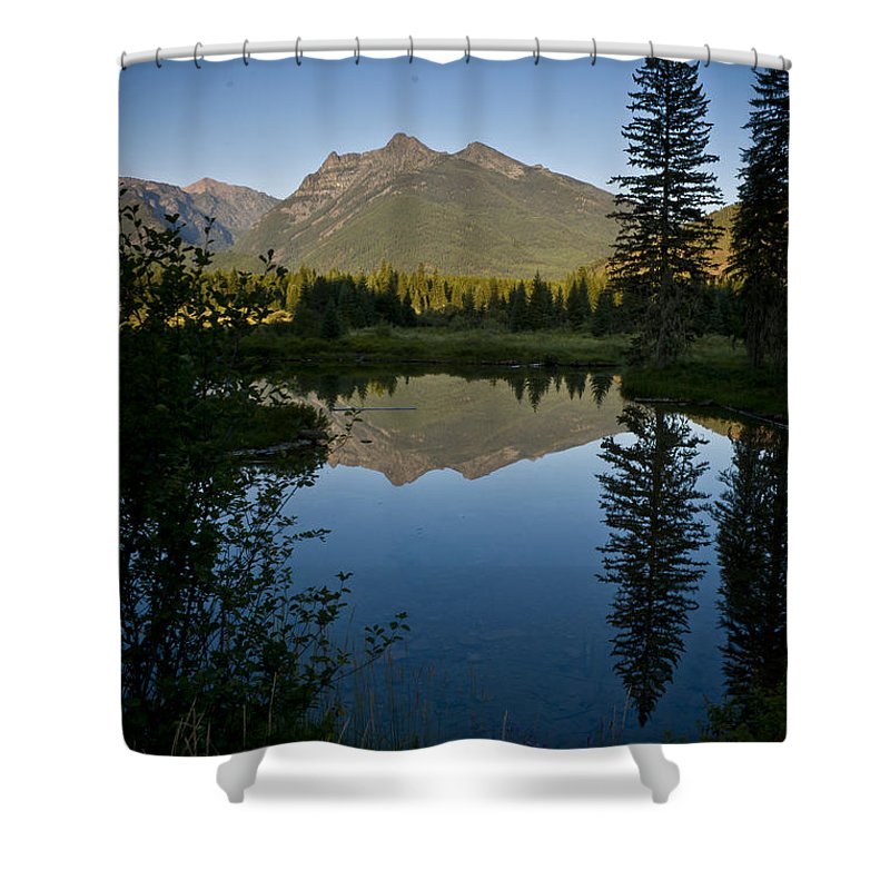 Reflections Shower Curtain featuring the photograph Evening Reflection by Albert Seger