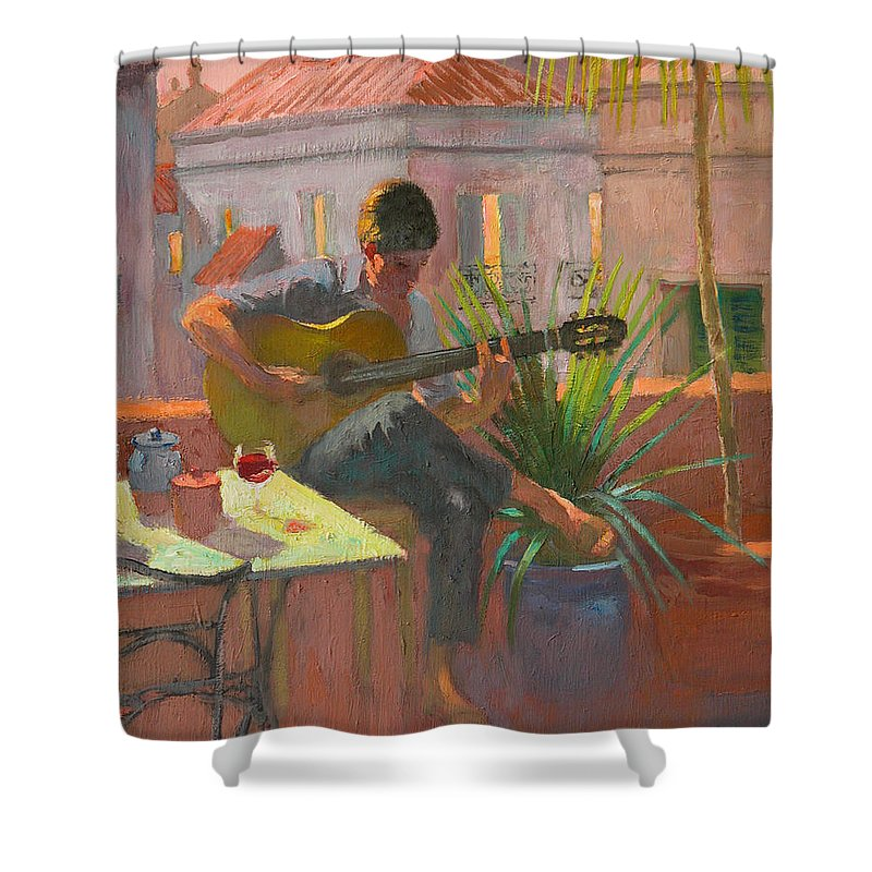 Evening Rooftop Shower Curtain For Sale By William Ireland