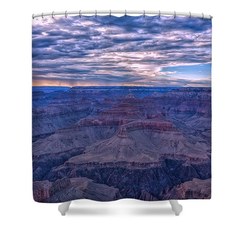 Landscape Shower Curtain featuring the photograph Evening Show by John M Bailey