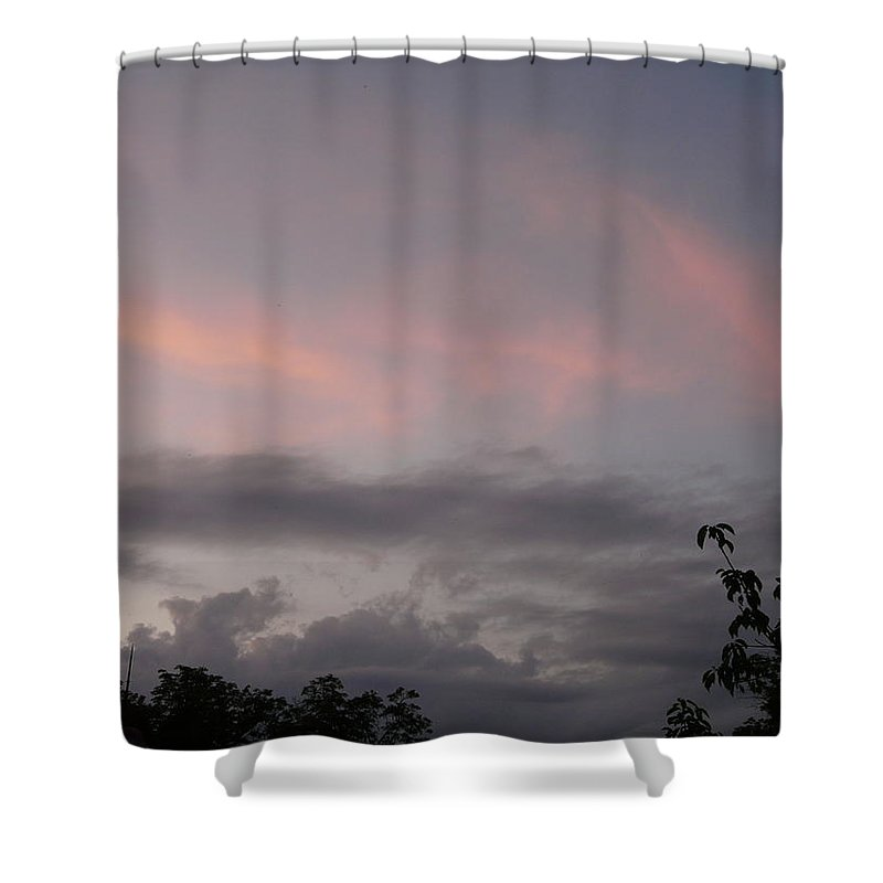 Sky Shower Curtain featuring the photograph Evening Sky by Valerie Ornstein