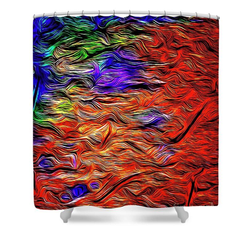Nag004468g Shower Curtain featuring the digital art Evening Tide by Edmund Nagele