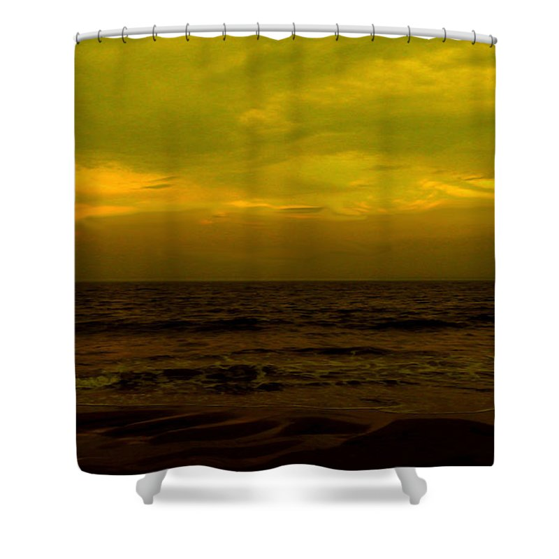 Beach Shower Curtain featuring the photograph Evening's Contemplation by Kendall Eutemey
