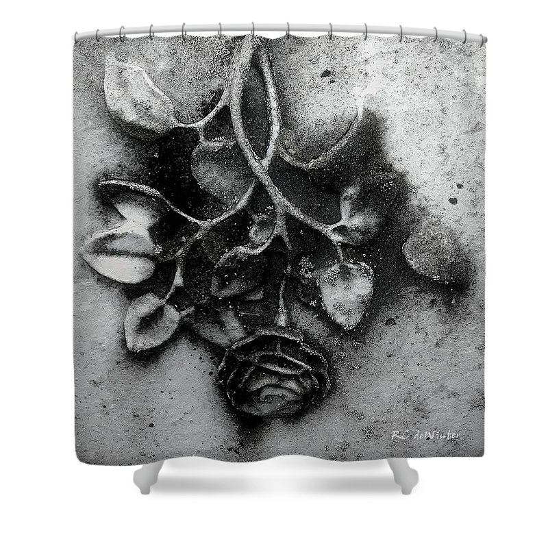 Antique Shower Curtain featuring the painting Everblooming by RC DeWinter