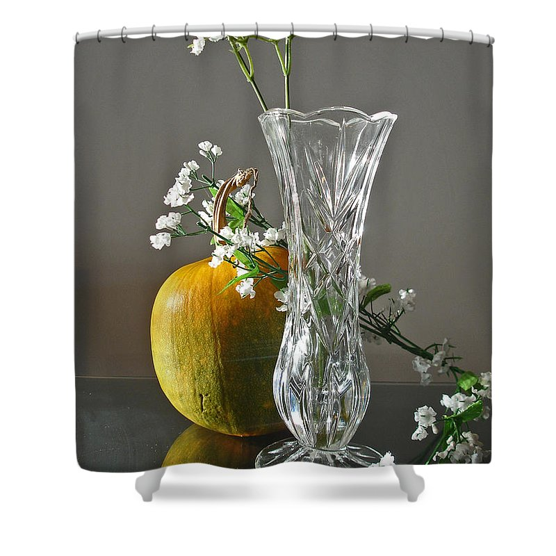 Still Life Shower Curtain featuring the photograph Everlasting Harvest by Shelley Jones
