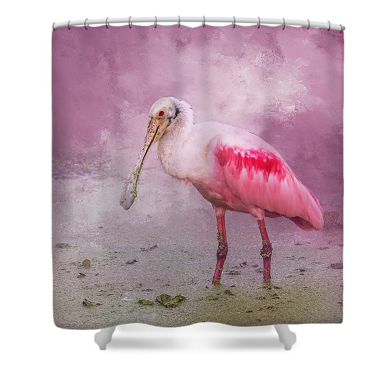 Wildlife Shower Curtain featuring the photograph Everything Is Rosie by Marvin Spates