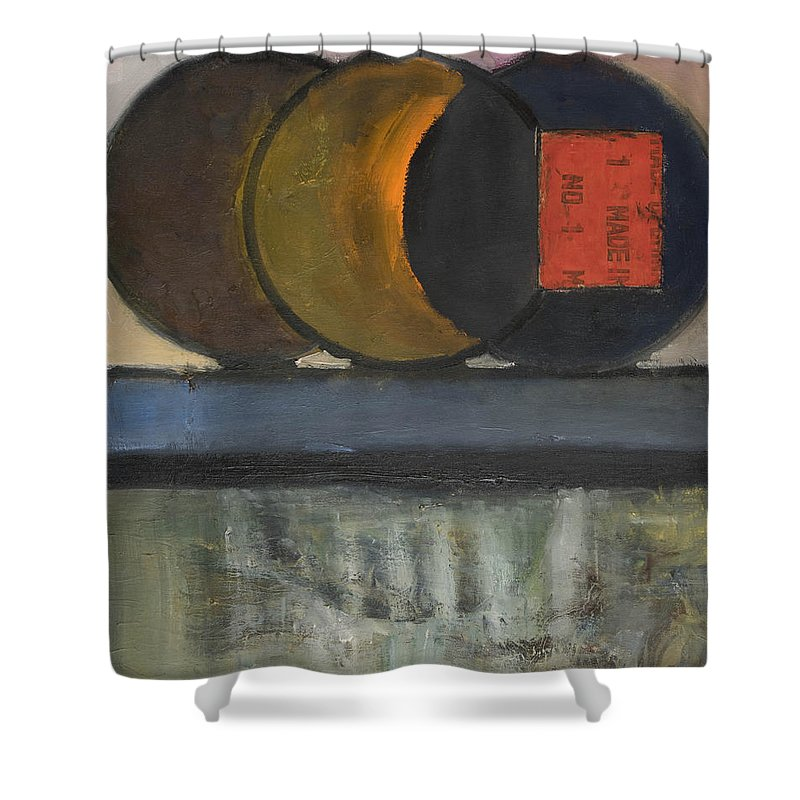 Abstract Shower Curtain featuring the painting Everything Tries To Be Round by Craig Newland