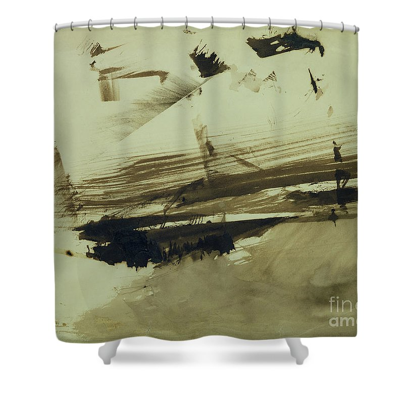 Ink And Wash On Paper Shower Curtain featuring the painting Evocation Of An Island by Victor Hugo