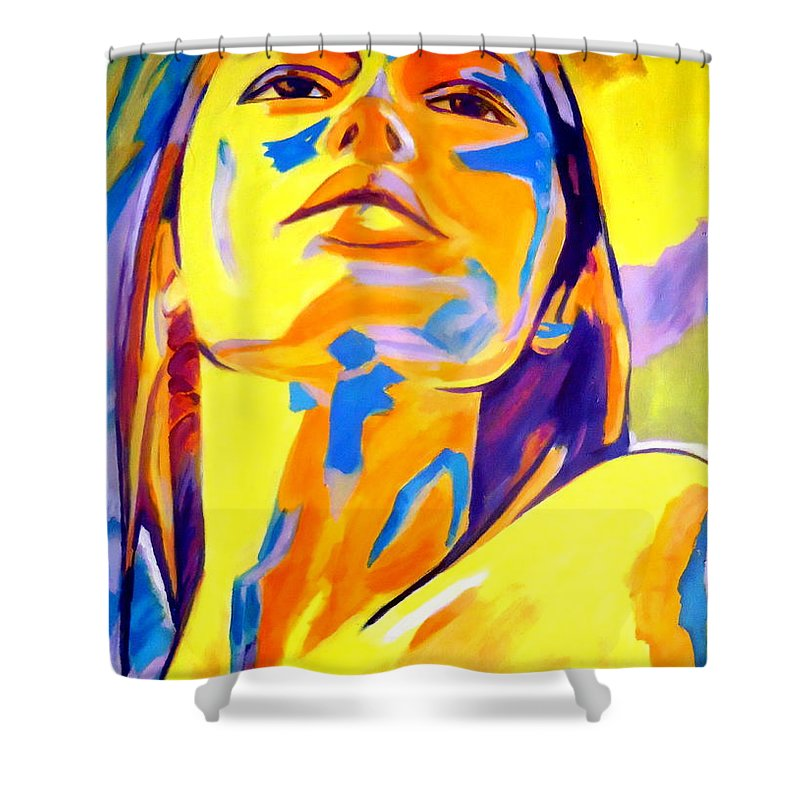 Affordable Original Paintings Shower Curtain featuring the painting Evocative Mood by Helena Wierzbicki