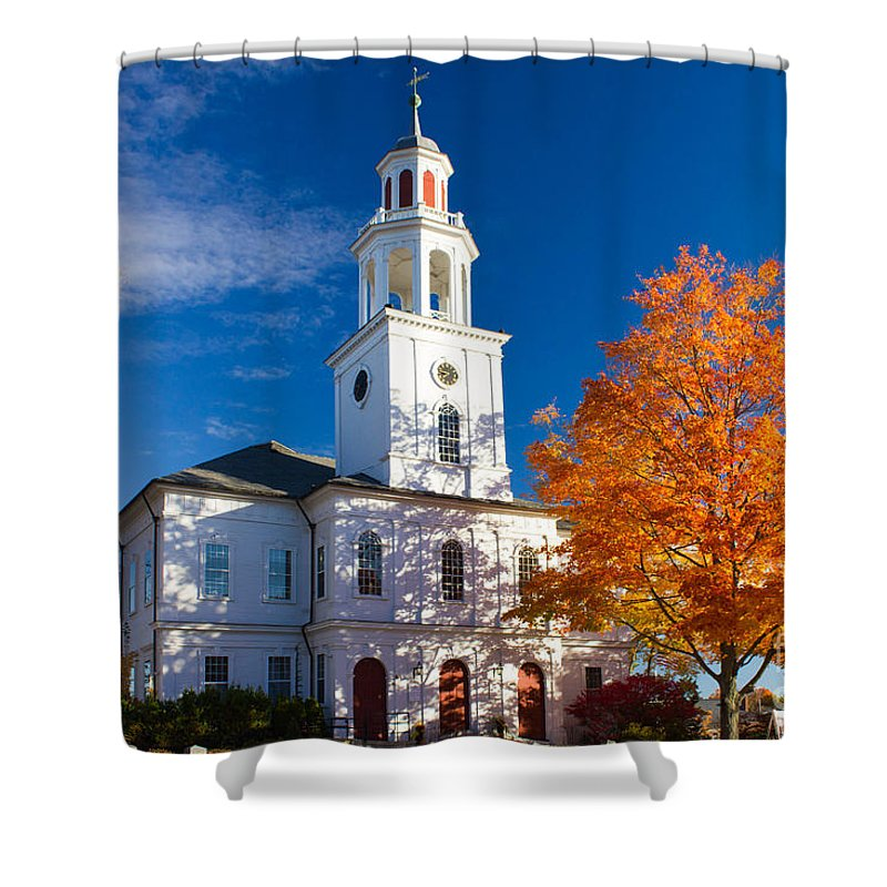 Exeter Shower Curtain featuring the photograph Exeter Congregational Church by Jim Hayes
