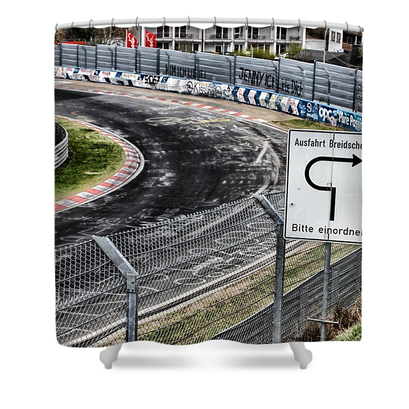Nurburgring Shower Curtain featuring the photograph Exit Breidscheid by Lauri Novak