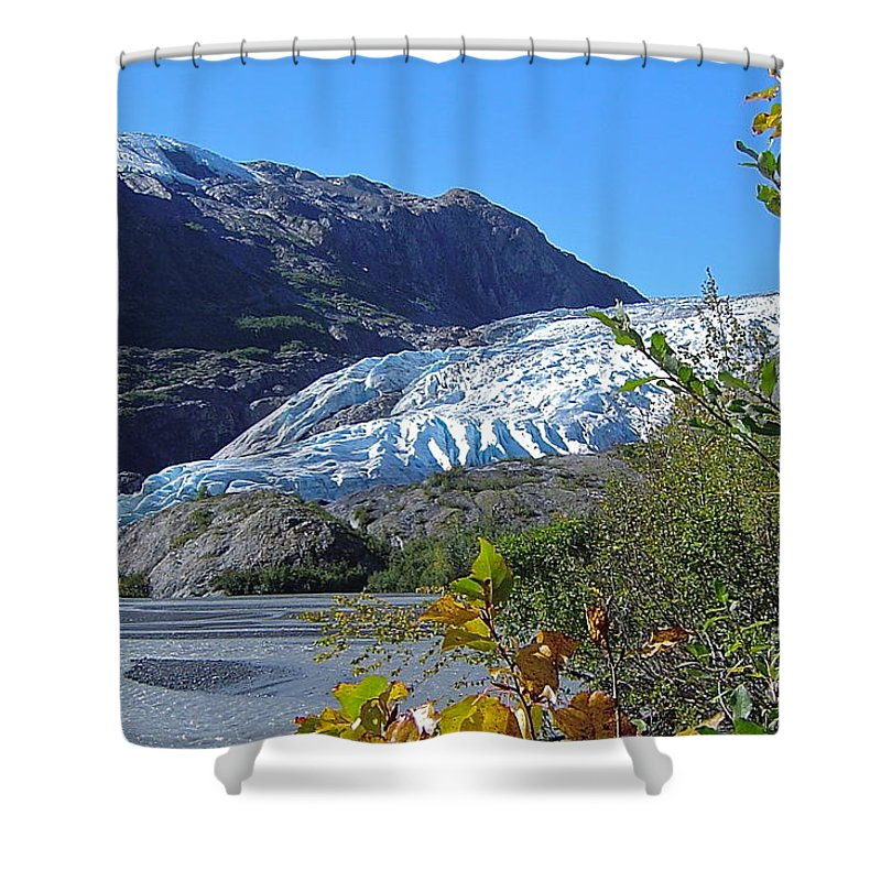 Glacier Shower Curtain featuring the photograph Exit by Rick Monyahan
