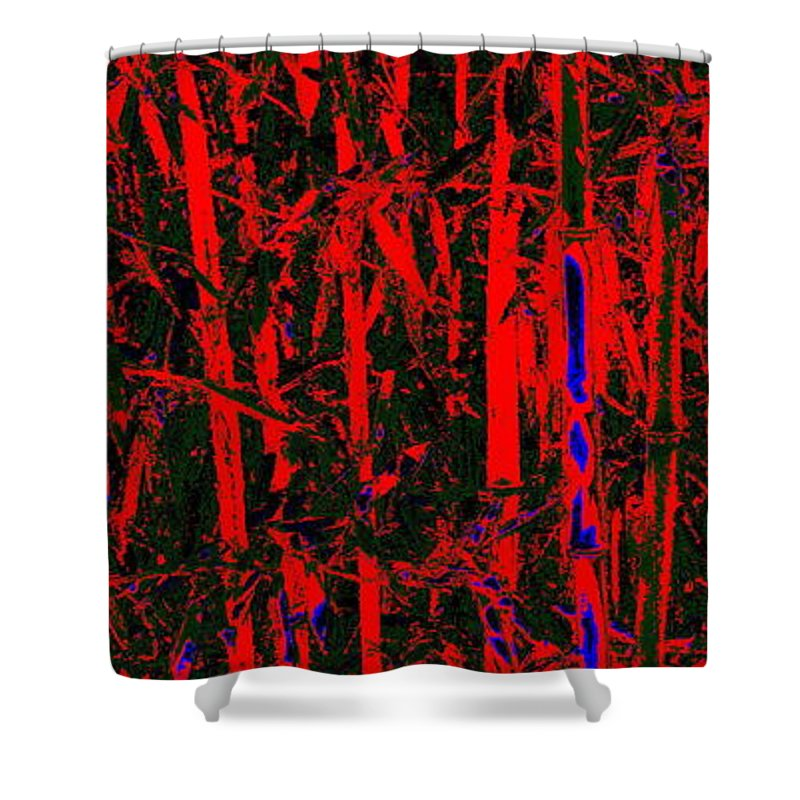 Bamboo Shower Curtain featuring the photograph Exotic Bamboo by Ed Smith