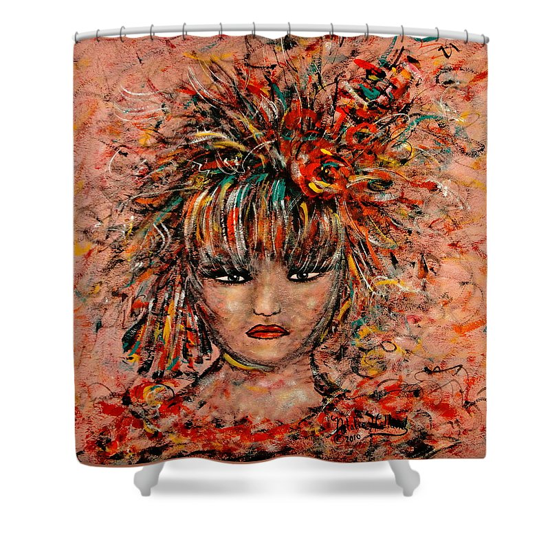 Exotic Dancer Shower Curtain featuring the painting Exotic Dancer by Natalie Holland