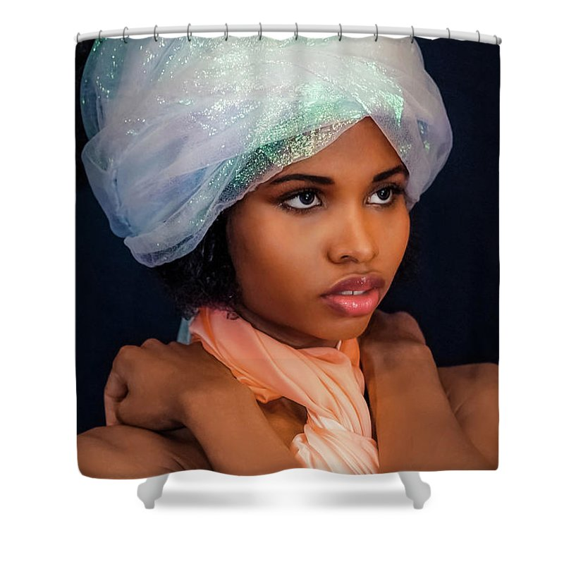 Girl Shower Curtain featuring the photograph Exotic by Lilia D