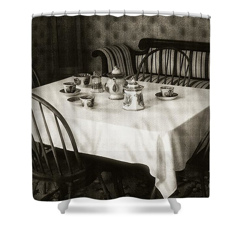 Still Life Shower Curtain featuring the photograph Expecting Guests by RC DeWinter