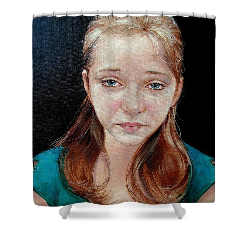 Sadness Shower Curtain featuring the painting Experience Of Loss 2004 by Jerrold Carton