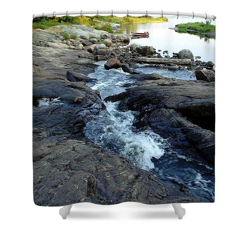 Landscape Shower Curtain featuring the photograph Exploring by Debbie Oppermann