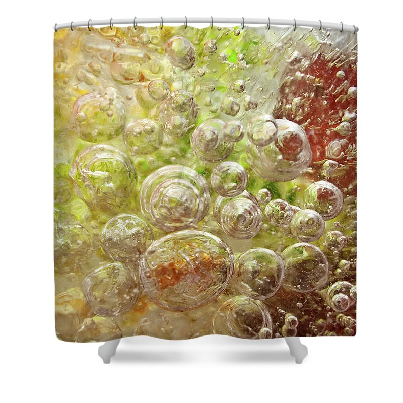 Abstract Shower Curtain featuring the photograph Explosion by Shannon Workman
