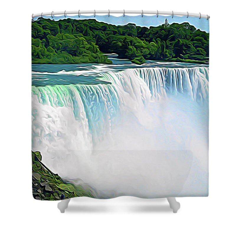 Niagara Falls Shower Curtain featuring the photograph Expressionalism Niagara Falls 12 by Aimee L Maher ALM GALLERY