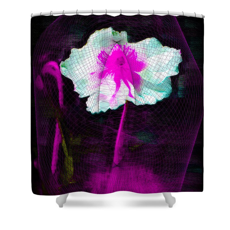 Flower Shower Curtain featuring the photograph Exquisite Capture by Donna Bentley
