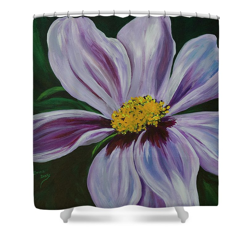 Floral Shower Curtain featuring the painting Exquisite by Donna Drake