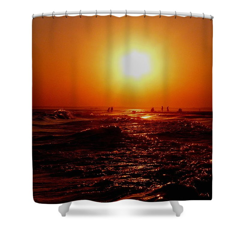 Beach Shower Curtain featuring the photograph Extreme Blazing Sun by Kendall Eutemey