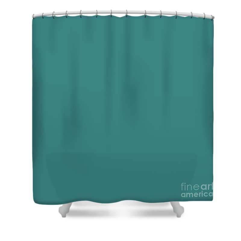 Extreme Eucalyptus Green Solid Color Shower Curtain Featuring The Photograph By