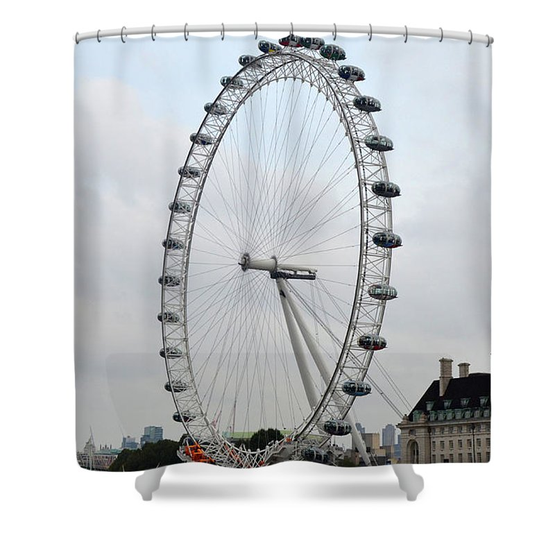 Eye Of London Shower Curtain featuring the photograph Eye Of London I by Dawn Crichton