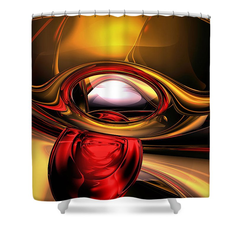 3d Shower Curtain featuring the digital art Eye Of The Gods Abstract by Alexander Butler