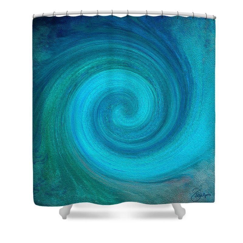 Hurricane Shower Curtain featuring the digital art Eye Of The Storm by Jennifer Stackpole