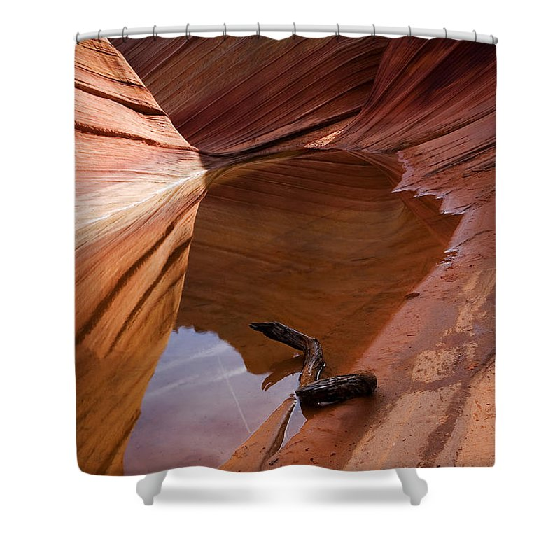 Wave Rock Shower Curtain featuring the photograph Eye Of The Wave by Mike Dawson