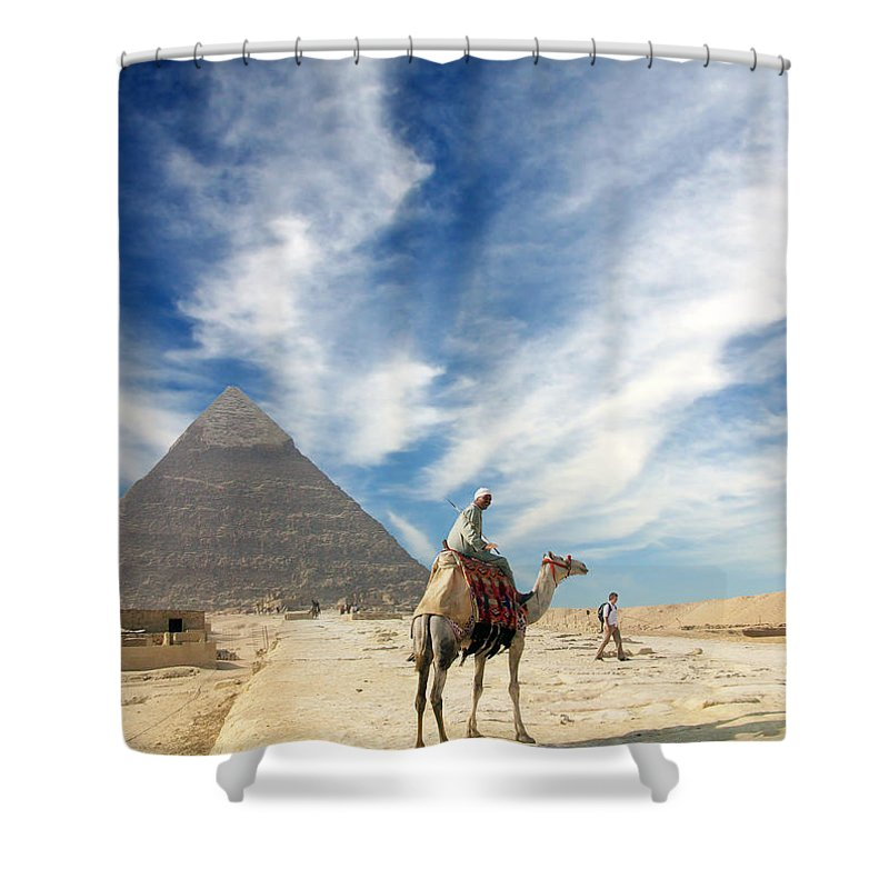 Egypt Shower Curtain featuring the photograph Eye On Egypt by Munir Alawi