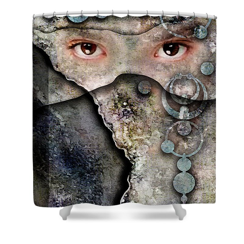 Eyes Without A Face Shower Curtain featuring the digital art Eyes Of Vision by Tim Thomas