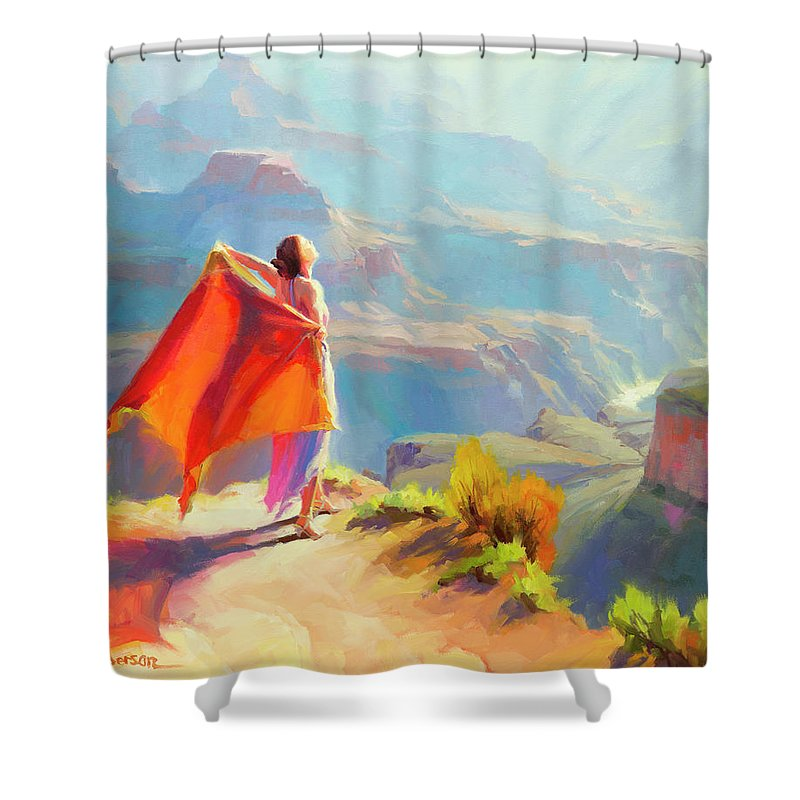 Woman Shower Curtain featuring the painting Eyrie by Steve Henderson