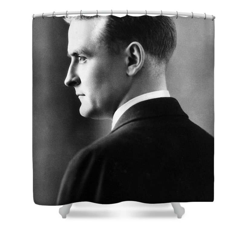F. Scott Fitzgerald Circa 1925 Shower Curtain featuring the photograph F. Scott Fitzgerald Circa 1925 by David Lee Guss