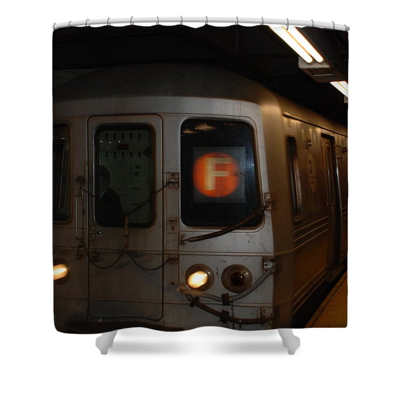 New York City Shower Curtain featuring the photograph F Trian by Rob Hans