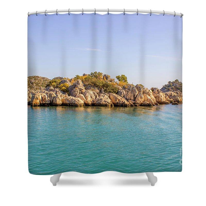 Larissa Antonova. Fabulous Island By Larissa Antonova. Tree Shower Curtain featuring the photograph Fabulous Island by Larissa Antonova