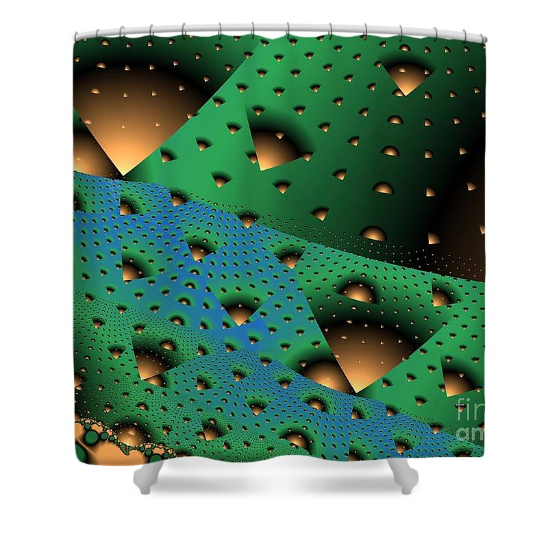 Fractal Art Shower Curtain featuring the digital art Facades And Fenestration by Ron Bissett