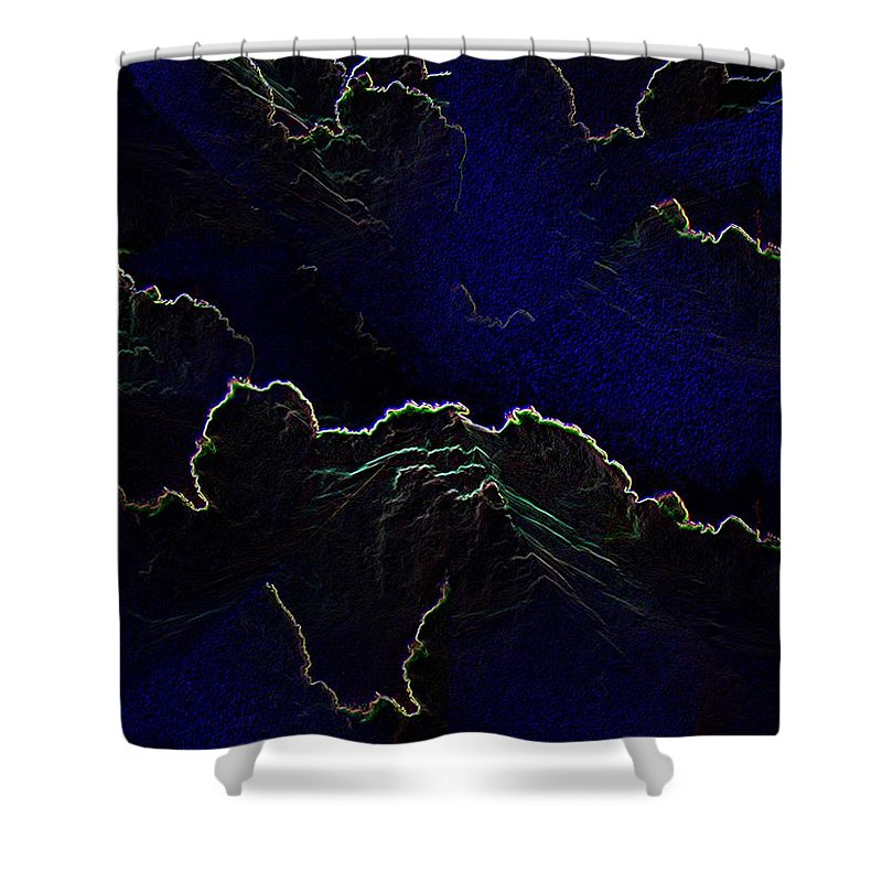 Clouds Shower Curtain featuring the photograph Face Cloud by Tim Allen