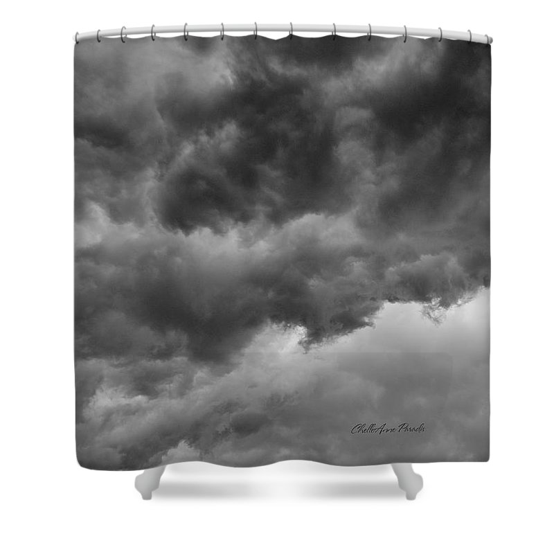 Clouds Shower Curtain featuring the photograph Faces In The Mist Of Chaos by ChelleAnne Paradis