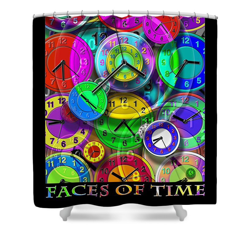 Portrait Shower Curtain featuring the digital art Faces Of Time 1 by Mike McGlothlen