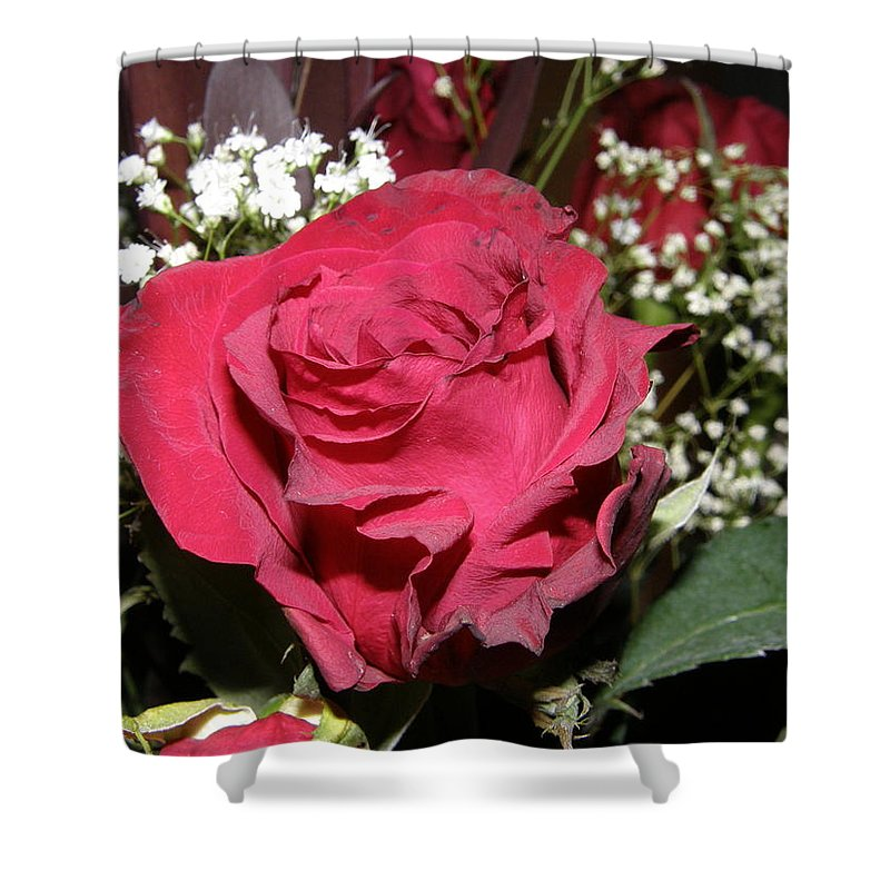 Rose Shower Curtain featuring the photograph Faded Rose 1 by Alice Markham