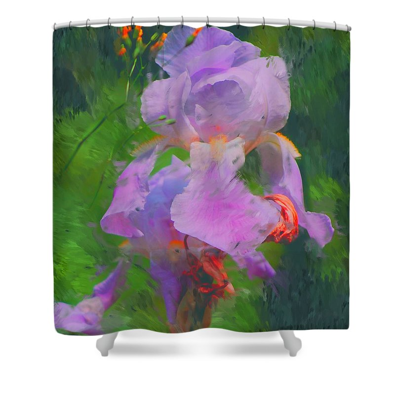 Iris Shower Curtain featuring the painting Fading Glory by David Lane