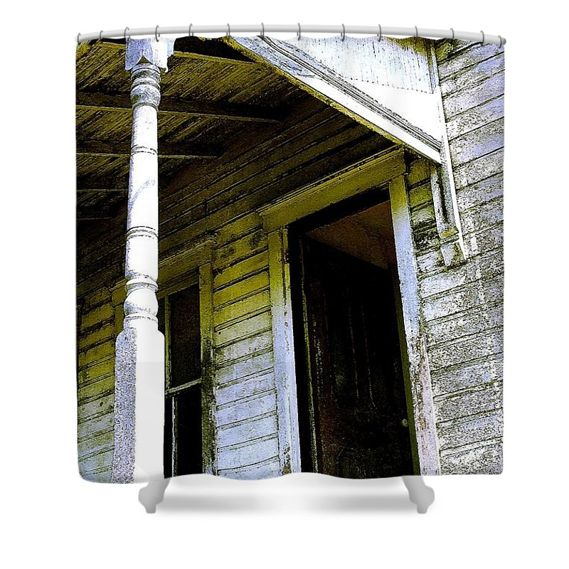 Porch Shower Curtain featuring the photograph Fairview Ohio - Number 1 by Nelson Strong